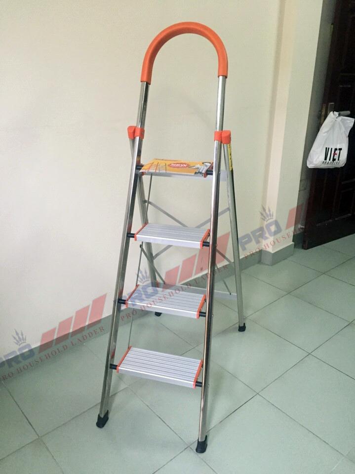 Thang inox bản to Pro 4 bậc
