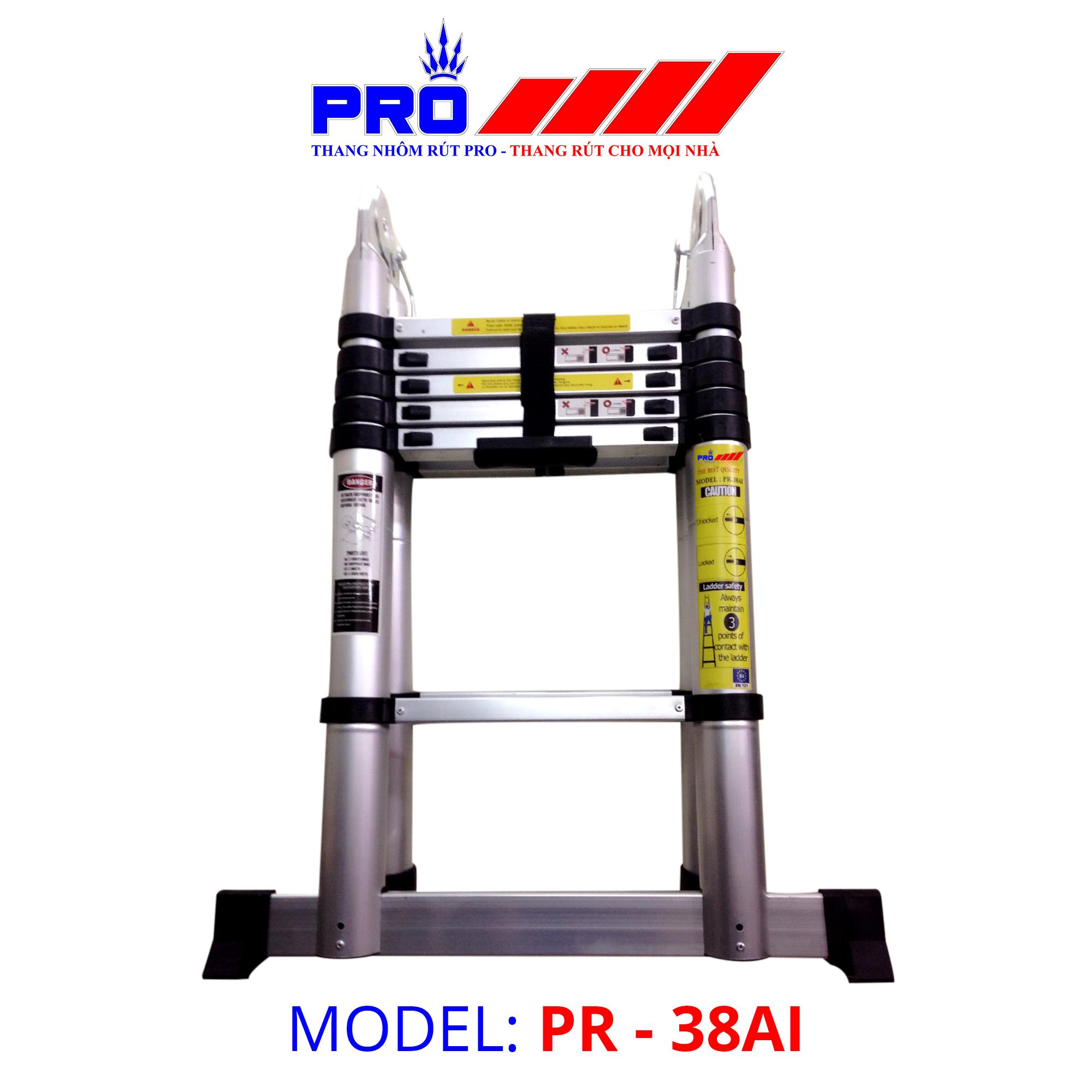 Thang nhôm rút đa năng Pro Telescopic Ladder PR-38AI