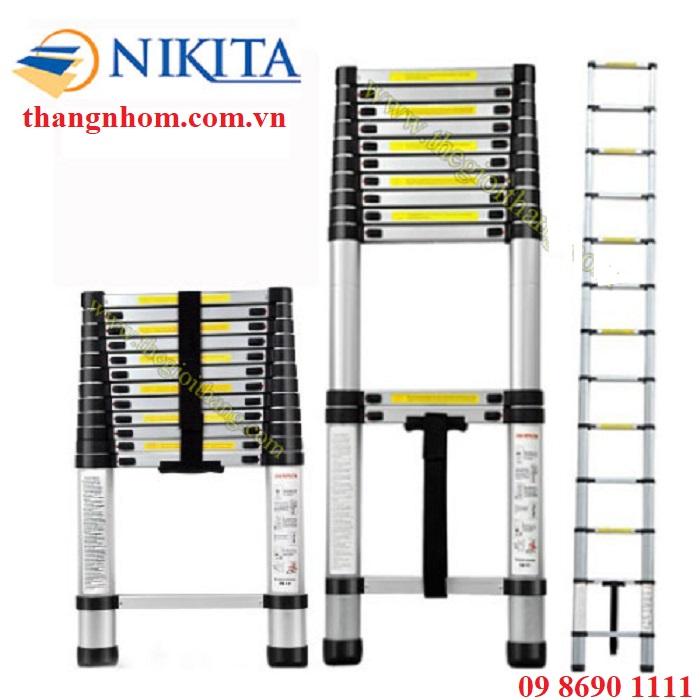 Thang nhôm rút đơn Nikita R-38