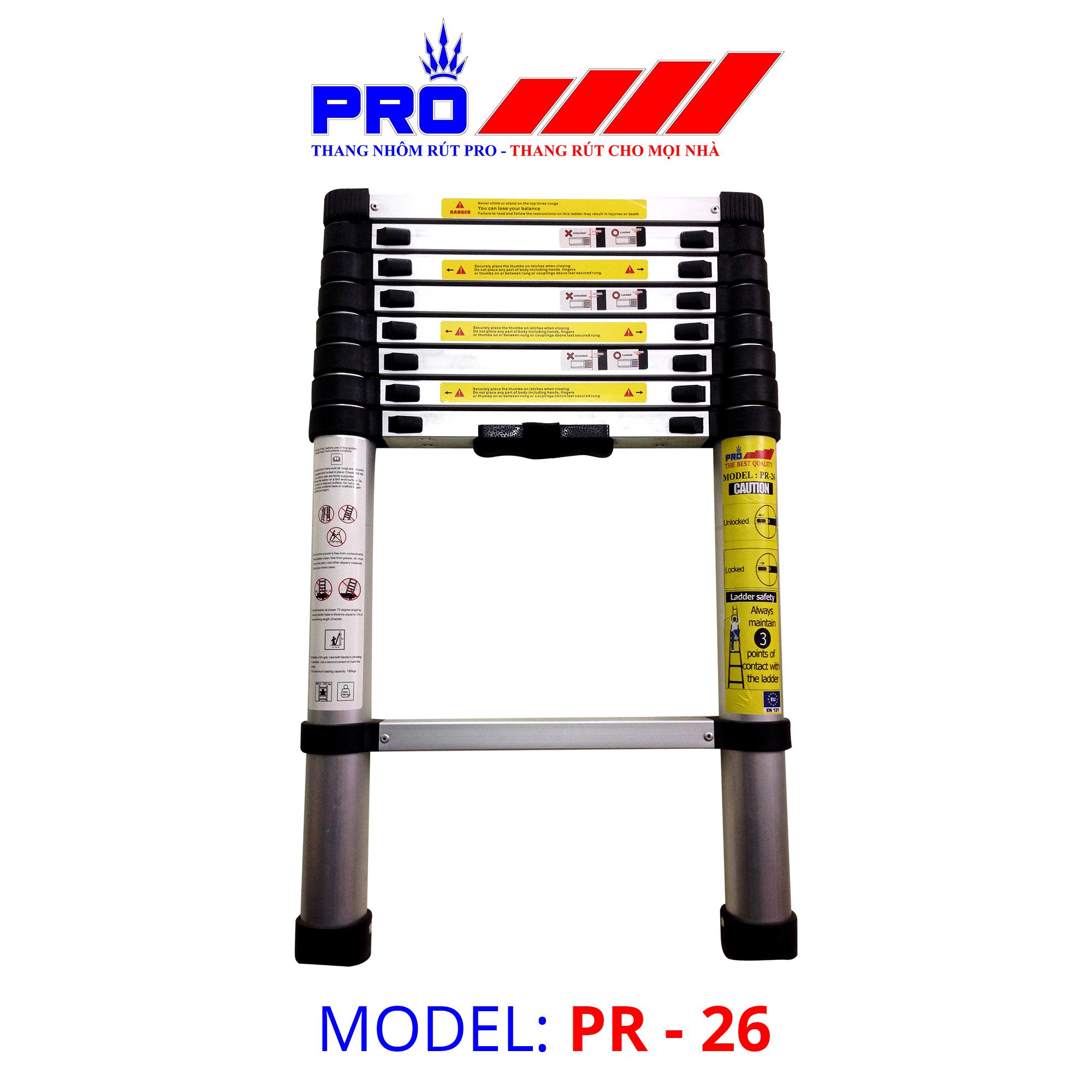Thang nhôm rút Pro Telescopic Ladder PR-26